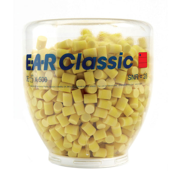 E-A-R Classic Ear Plug Refill Bottle 500 Pack