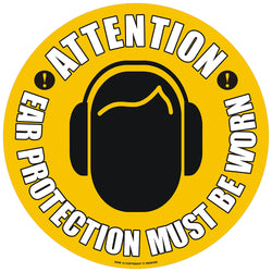 PROline Floor Sign: Attention Ear Protection Must Be Worn