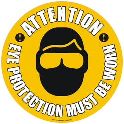 PROline Floor Sign: Attention Eye Protection Must Be Worn