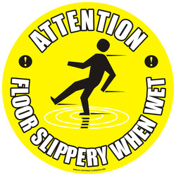 PROline Floor Sign: Attention Floor Slippery When Wet