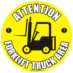 PROline Floor Sign: Attention Forklift Truck Area