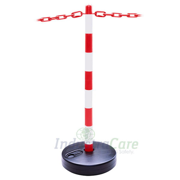Guarda Chain Post Red/White - Circular Base