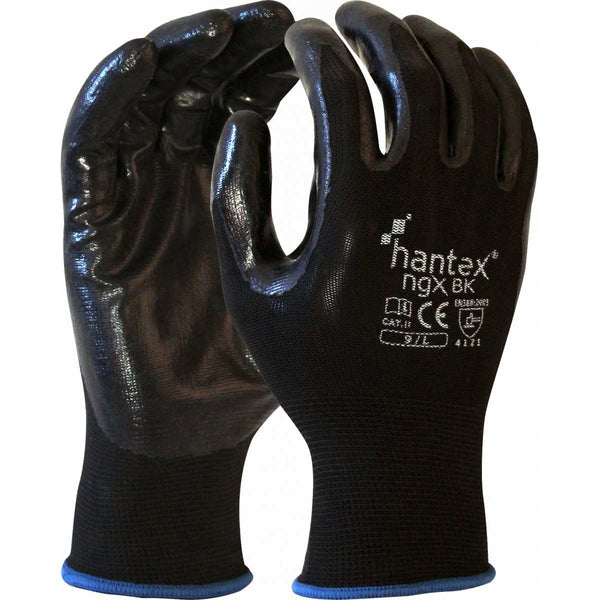 Hantex NGX Black General Purpose Safety Gloves