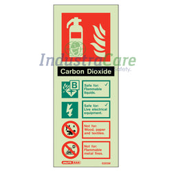Jalite CO2 Fire Extinguisher Photoluminescent Sign (6265M)