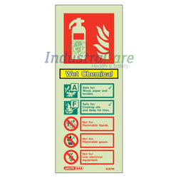 Jalite Wet Chemical Fire Extinguisher Photoluminescent Rigid PVC Safety Sign