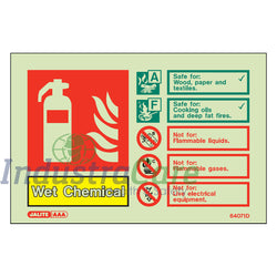 Jalite Fire Extinguisher Wet Chemical Photoluminescent Rigid PVC Safety Sign (6407ID)