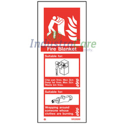 Jalite Fire Blanket White Rigid PVC Safety Sign (W6366M)