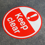 PROline Floor Sign: Keep Clear (Red/White) image 2