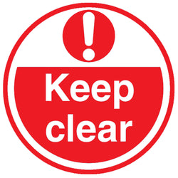 PROline Floor Sign: Keep Clear (Red/White) image 1