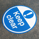 PROline Floor Sign: Keep Clear (Blue/White) image 2