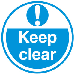 PROline Floor Sign: Keep Clear (Blue/White) image 1