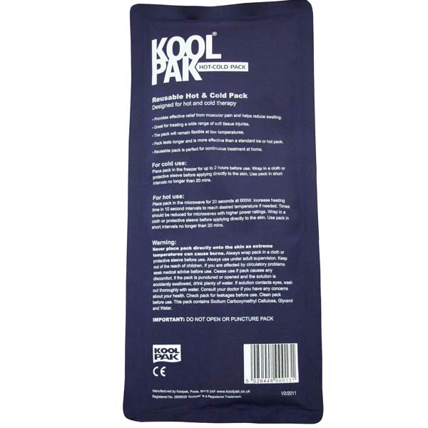 Koolpak Luxury Reusable Hot and Cold Pack - 12 x 29cm (Pack of 5)