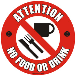 PROline Floor Sign: Attention No Food Or Drink