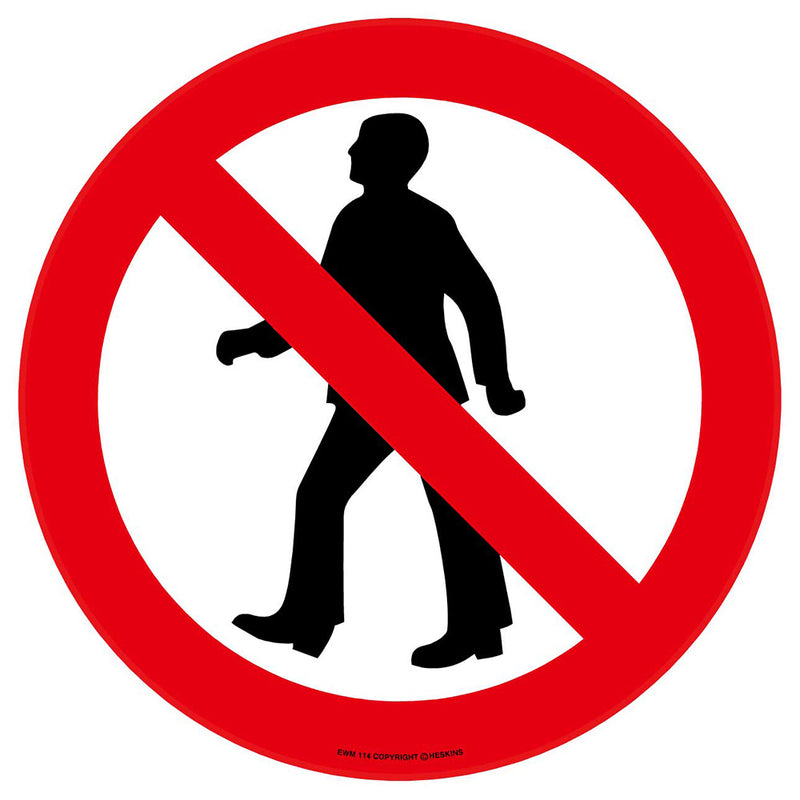 PROline Floor Sign: No Pedestrians