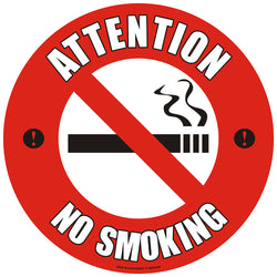 PROline Floor Sign: Attention No Smoking