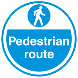 PROline Floor Sign: Pedestrian Route (image 1)