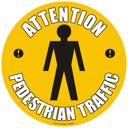 PROline Floor Sign: Attention Pedestrian Traffic