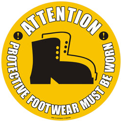 PROline Floor Sign: Attention Protective Footwear Must Be Worn