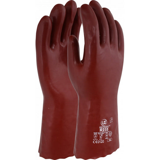 UCI R235 PVC Coated Chemical Gauntlets
