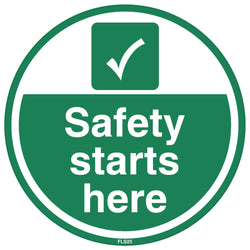 PROline Floor Sign: Safety Starts Here (image 1)
