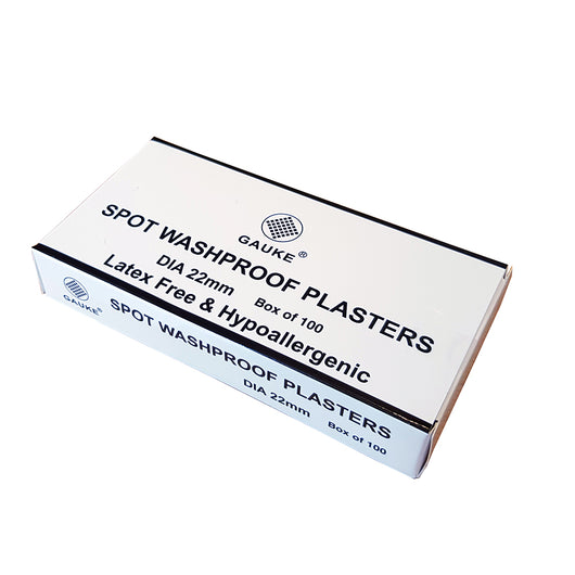 Washproof Spot Plasters 2.2cm Diameter (Box of 100)