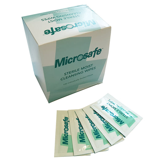 Sterile Saline Moist Cleansing Wipes Pack of 100