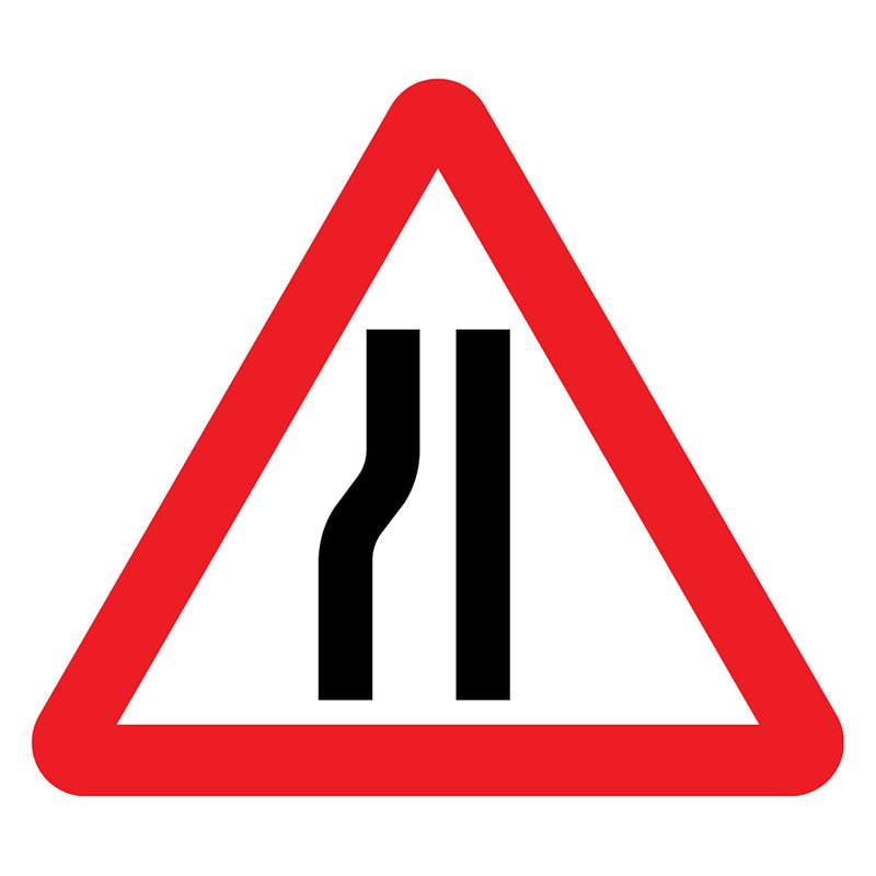 Traffic Sign - Road Narrows Nearside