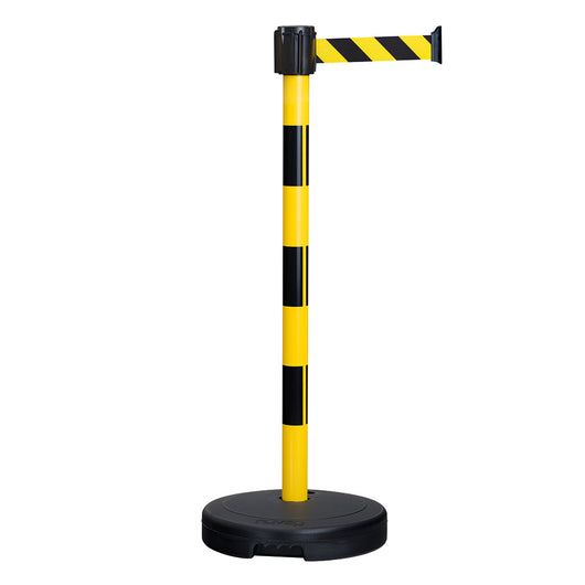 Traffic-Line Economy Belt Barrier Black/Yellow