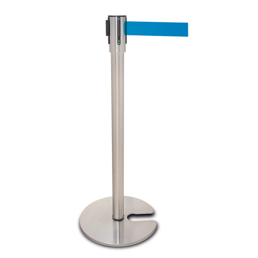 Traffic-Line Stainless Steel Belt Post - Recessed Base (Image 1)