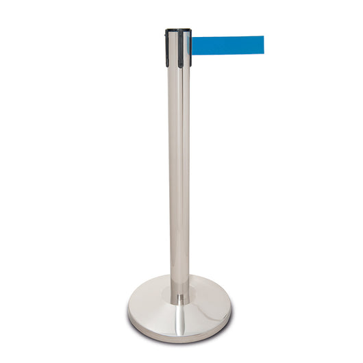 Traffic-Line Stainless Steel Belt Post - Standard Base (Image 1)