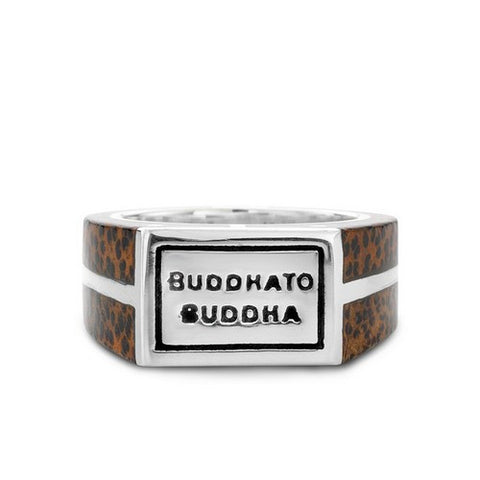BUDDHA TO BUDDHA RING LIVY PALM WOOD BROWN