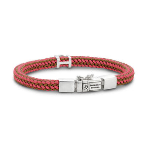 BUDDHA TO BUDDHA BRACELET DENISE CORD - MIX RED