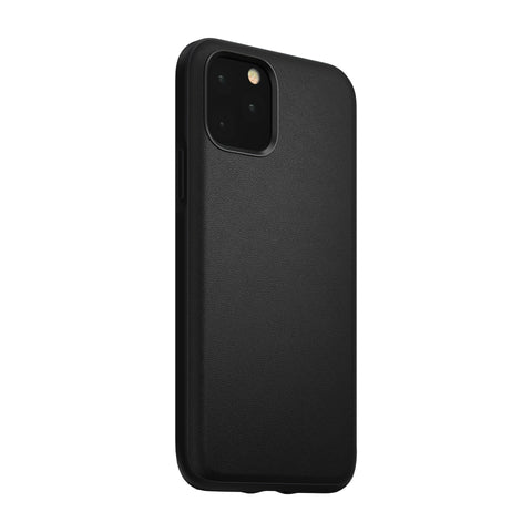 Waterproof Leather Rugged Case iPhone 11 Pro Black