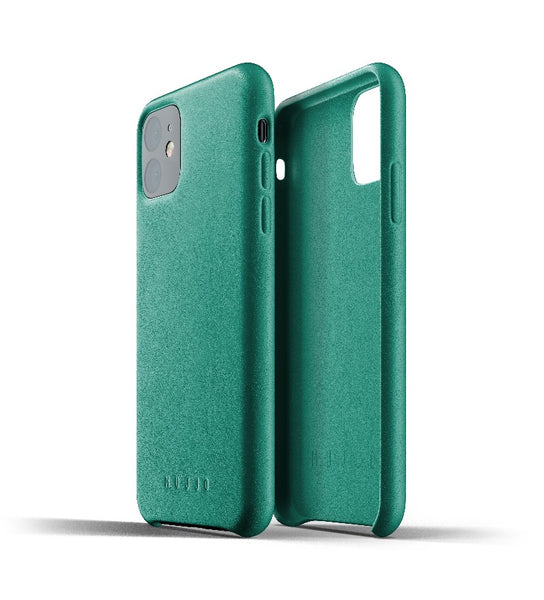 Mujjo Full Leather Case for iPhone 11 Green
