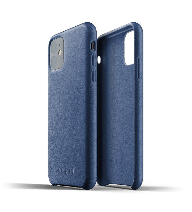 Mujjo Full Leather Case for iPhone 11 Blue