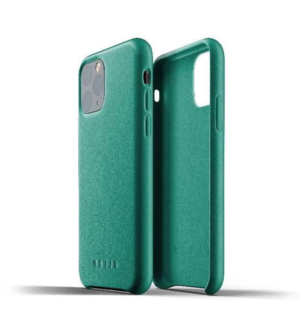 Mujjo Full Leather Case for iPhone 11 Pro Green