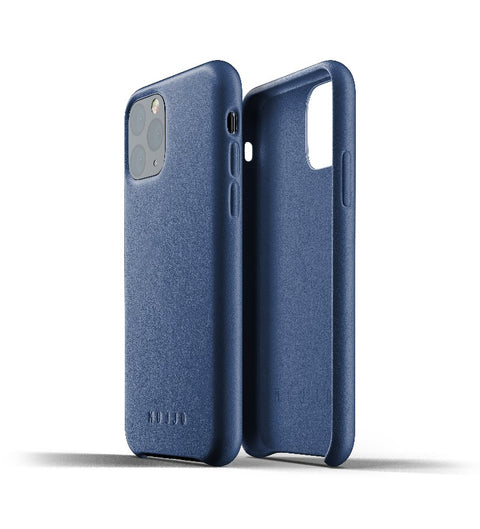 Mujjo Full Leather Case for iPhone 11 Pro Blue