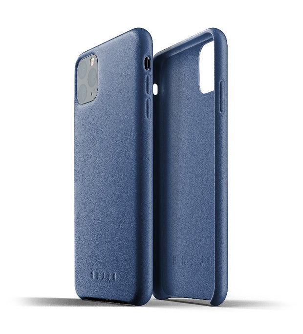 Mujjo Full Leather Case for iPhone 11 Pro Max Blue