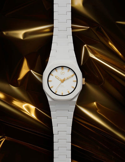 D1 Monochrome Gold 40mm White - Ante Shop