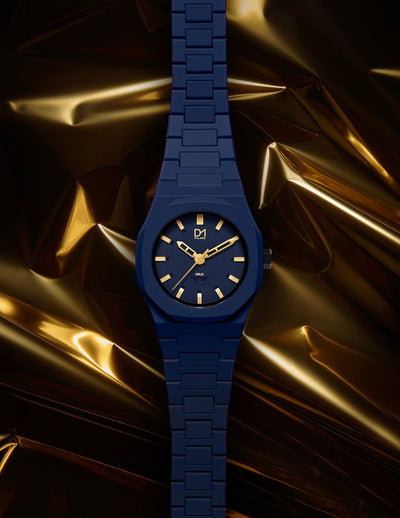 D1 Monochrome Gold 40mm Blue - Ante Shop