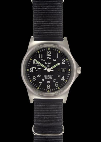 MWC G10 LM Stainless Steel Military Watch with 12/24 Hour Dial - Ante Shop