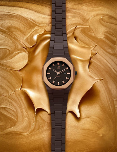 D1 Premium 36mm Chocolate Rose Gold - Ante Shop