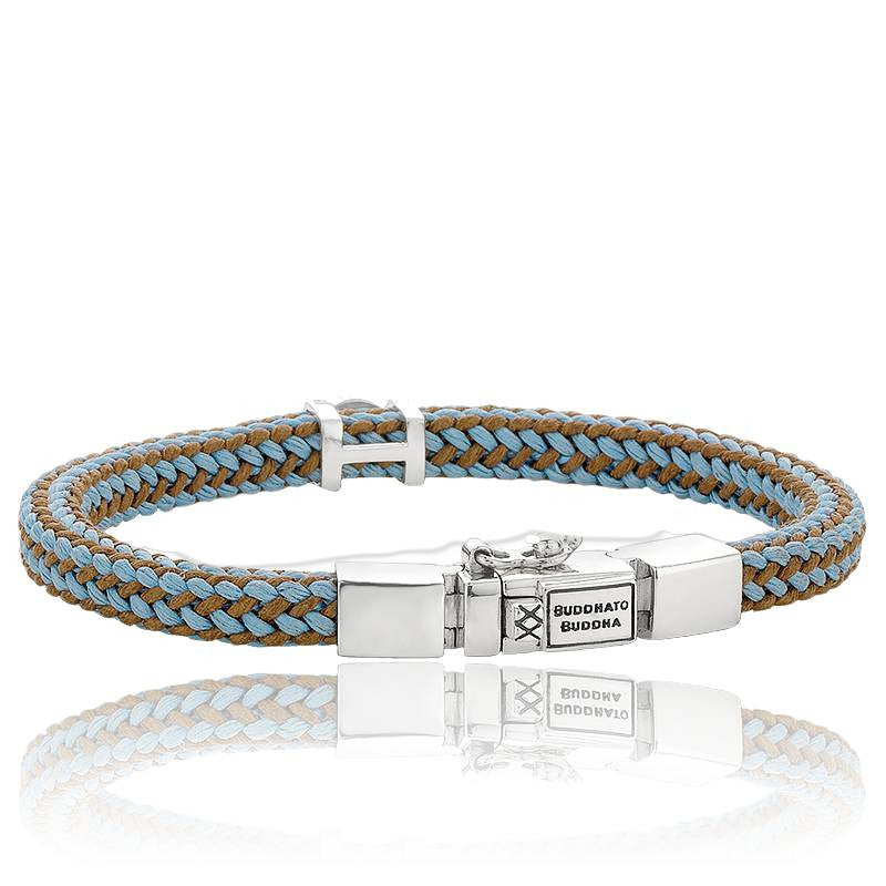 BUDDHA TO BUDDHA BRACELET DENISE CORD - MIX BROWN & BLUE