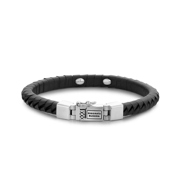 BUDDHA TO BUDDHA BRACELET KOMANG SMALL LEATHER BLACK