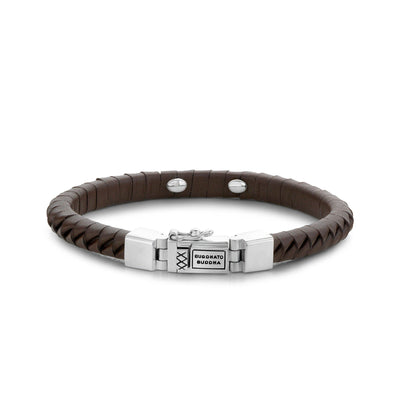 BUDDHA TO BUDDHA BRACELET KOMANG SMALL LEATHER BROWN - Ante Shop