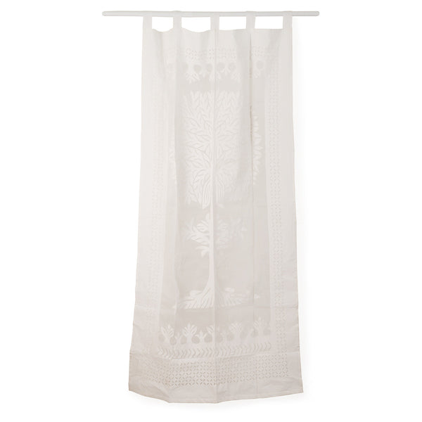 Embroidered Cotton Curtain