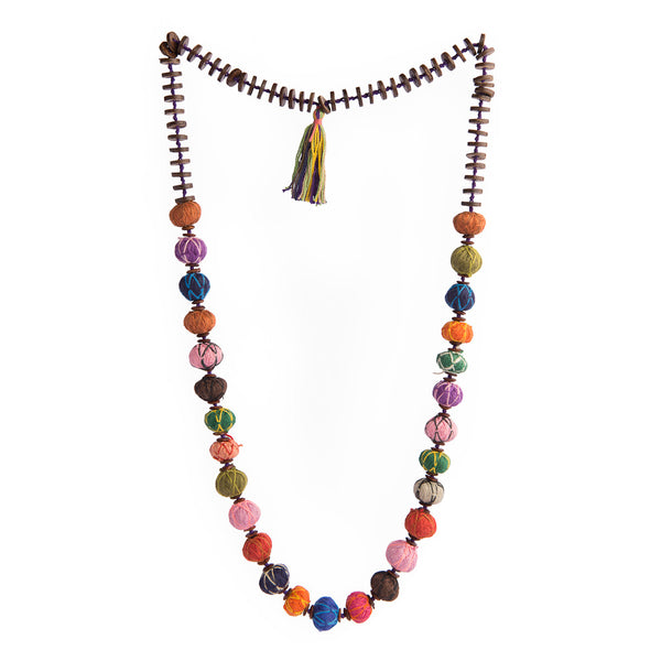 Cotton Long Thread Necklace - MULTICOLOR