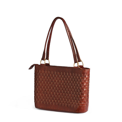Leather Woven Bag
