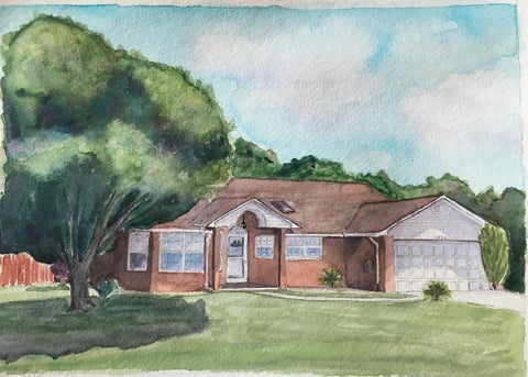 House Portrait December 2016 Watercolor