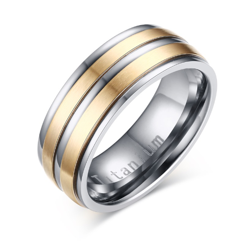 Men's jewelry is titanium carbide (TR012GS).